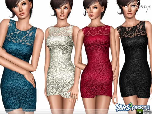 Платье Sleeveless Lace от ekinege