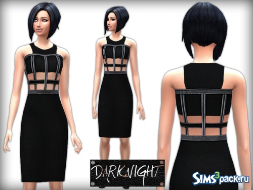 Платье Halter Neck Pencil Dress With Leather Insets от DarkNighTt