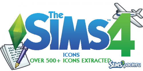 Иконки -The Sims 4 Ultimate Game Icons от TheSimKid