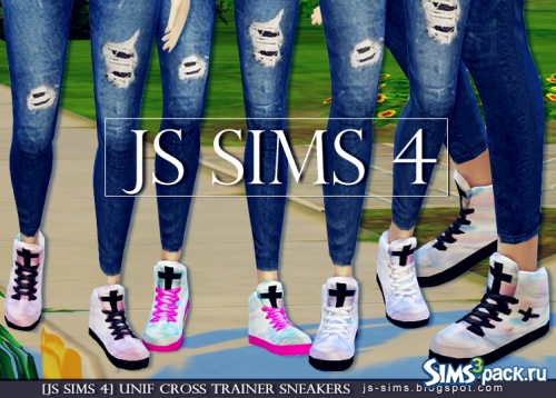"Кроссовки ""UNIF CROSS TRAINER SNEAKERS"" от JS SIMS 4"