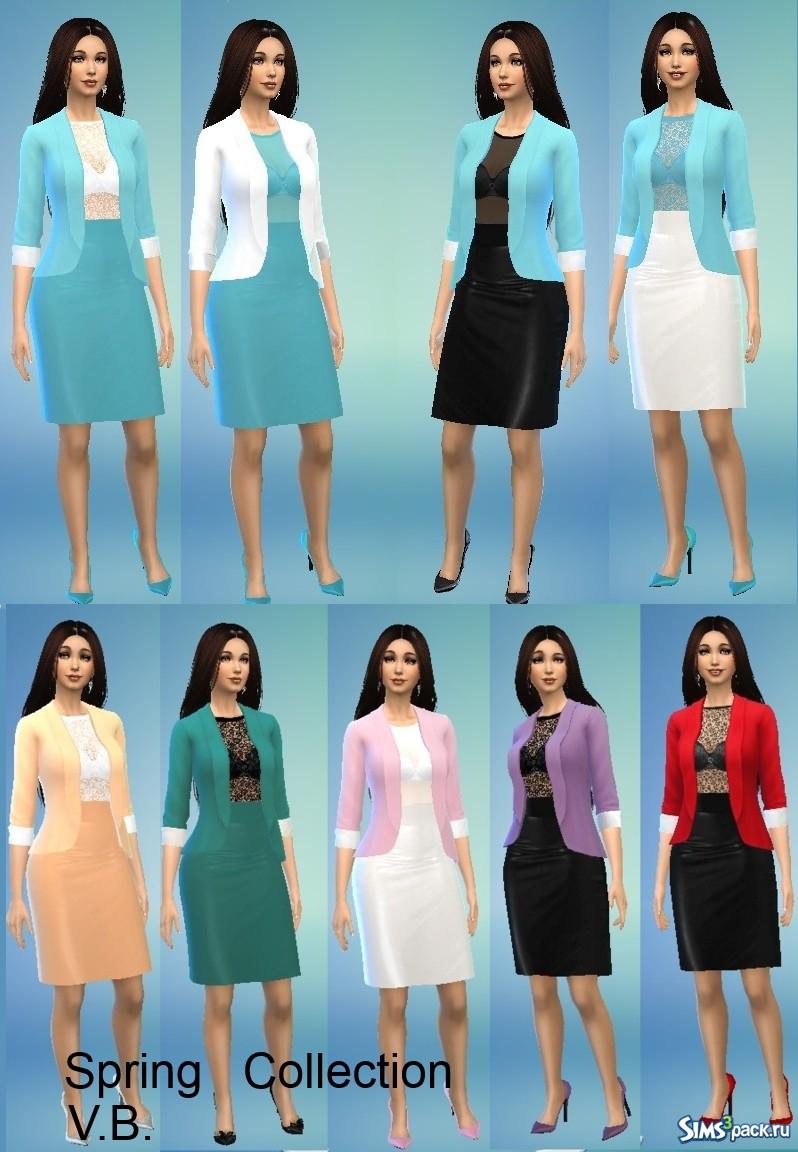 46a95a37470 Скачать коллекция женской одежды Весна от LeonaLure для Симс 4