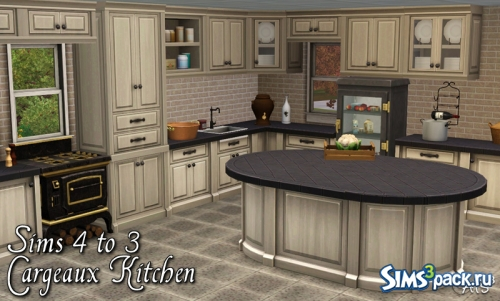 Кухня Sims 4 to 3 | Cargeaux Kitchen от Sandy