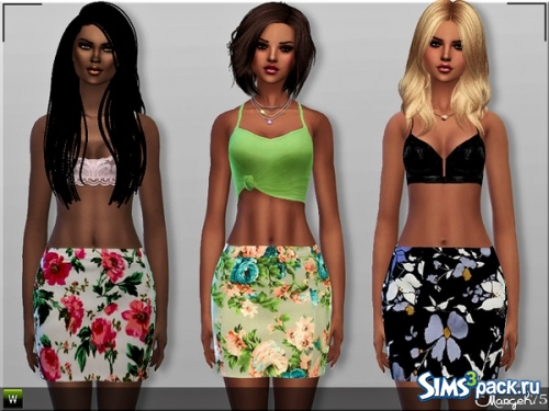 "Юбки ""Floral Bodycon Skirts"" от Margeh-75"