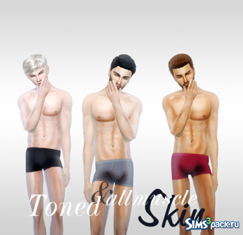 Мужской скинтон Toned and all muscle Skin от charactersassims