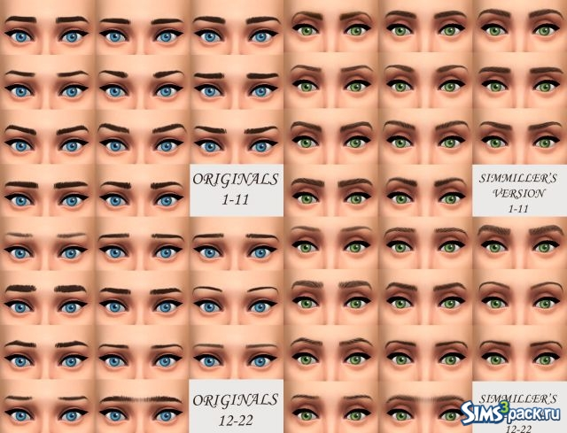 Eyebrows Default Replacement Eyebrows For