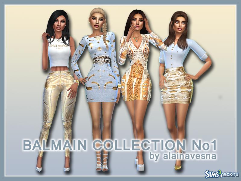 70ebda23a32 Скачать коллекция женской одежды Balmain №1 от AlainaVesna для Симс 4