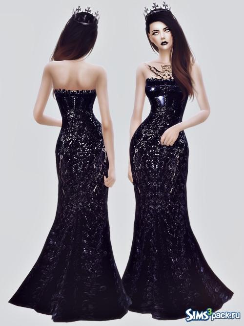 56708a40c06 Скачать черное Платье Nicolas Jebran от FashionRoyaltySims для Симс 4
