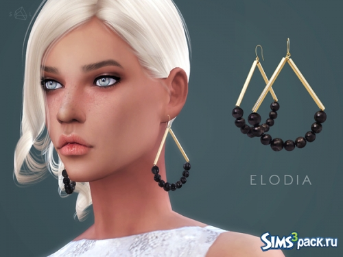 Серьги Gold-plated horn earrings ELODIA от starlord