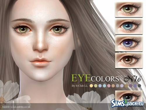 Линзы LL thesims4 eyecolors 16 от S-Club