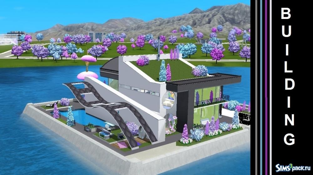Скачать дом circular modern от autaki для симс 3.