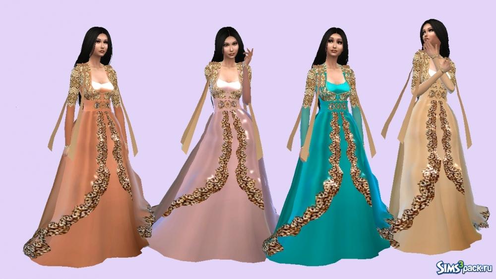 7989b840fcf Скачать платье для турецкой Султанши от LeonaLure для Симс 4