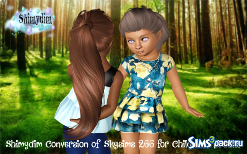 Длинный хвост Skysims 266 Conversion Child and Toddler от ShimydimSims