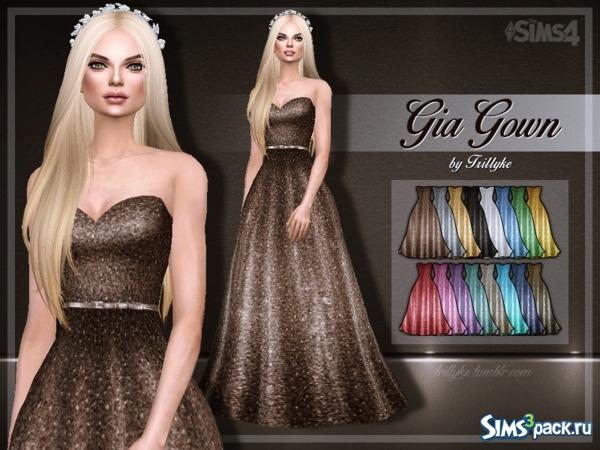 bd460685554 Скачать пышное платье Gia Gown от Trilly21 для Симс 4