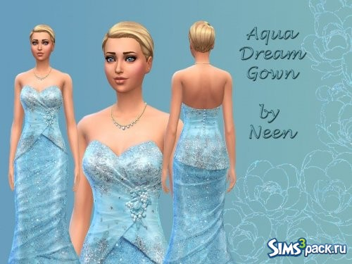 Платье Aqua Dream Gown