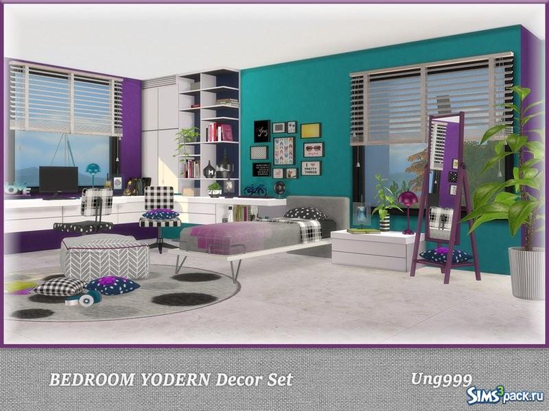 скачать декор для спальни Yodern от Ung999 для симс 4