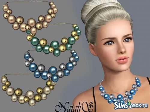 Колье Giant pearls and beads