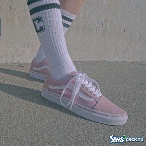Скачать кеды Vans Pink Old Skool от JS SIMS для Симс 4 aaceb05e8fe