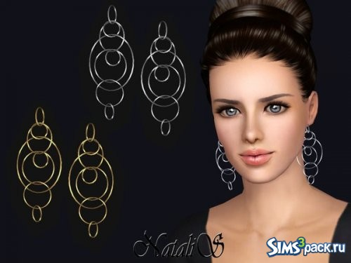 Серьги Long multiple hoops