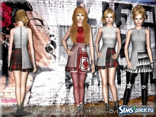 Платье Metallic EM fashion