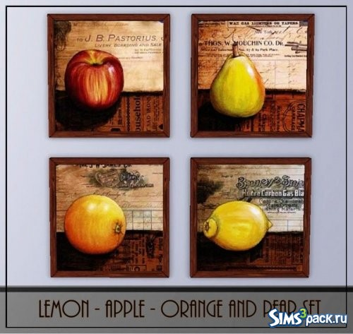 Сет Lemon, Apple, Orange, and Pear