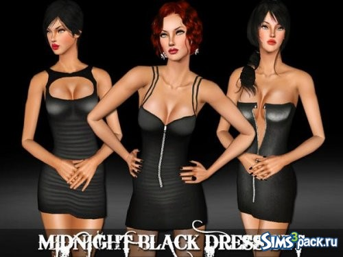Сет Midnight Black Dress