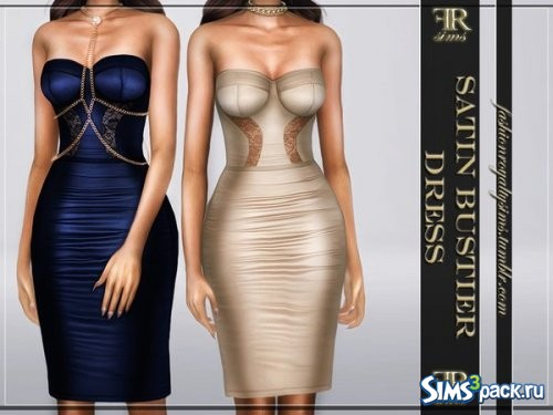 Платье Satin Bustier Dress