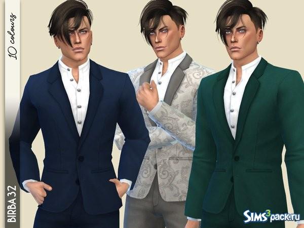 Оригинальное название - Vibrations suit. Классический костюм с корейский  воротничком. Можно перекрашивать. eacb2ed301f