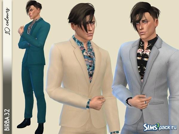 Оригинальное название - Vibrations suit II. Деловой костюм для симов. 10  вариантов включено. Можно перекрашивать. 9be3c5a5f3e