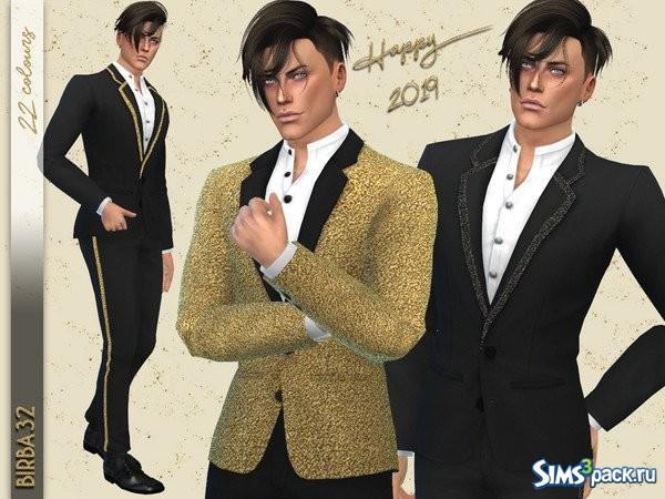 Стильный мужской костюм с блестящими деталями. Можно перекрашивать. c64eefc59f0