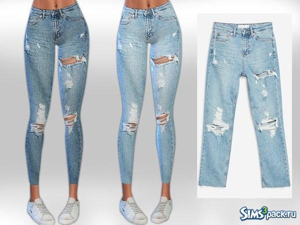 b32ad97fb33 Оригинальное название - Destroy Rip Jeans. Укороченные джинсы - скинни с  потертостями и разрезами. 2 расцветки.