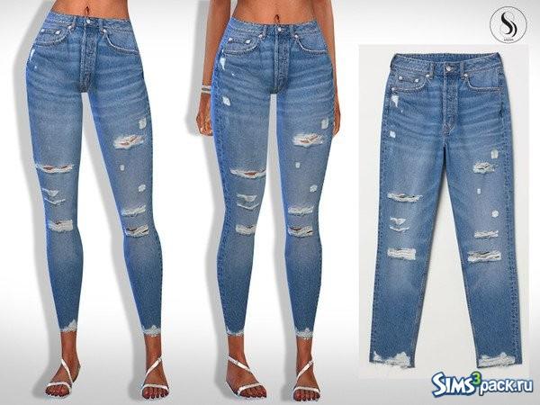a0abc3e2a35 Оригинальное название - Eli Ripped Skinny Casual Jeans. Укороченные джинсы  - скинни с потертостями и разрезами. Одна расцветка.