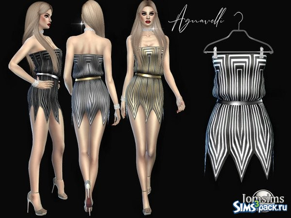92203a2b519 Оригинальное название - Agnavelli dress. Короткое платье с поясом и рваным  подолом. 4 дизайна.